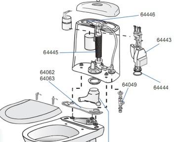 инструкция по сборке унитаза - фото 2